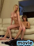 Blonde teen gives a blowjob